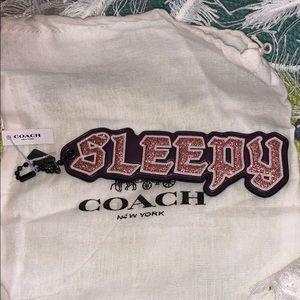 "Coach Disney ""Sleepy"" sparkle bag/tag/charm/key"